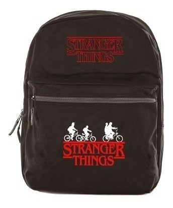Mochila Stranger Things Bicicleta Bolsa Escola