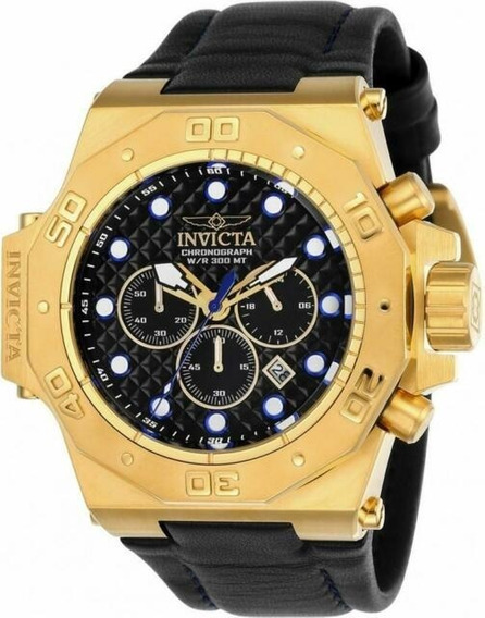 Invicta Akula 23103 58mm Banhado Ouro 14k - Original Thirs