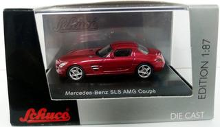 Mercedes Benz Sls Amg Coupe Red - Escala 1/87 H0 Schuco