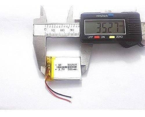 10 Baterias 500 Mah Rastreador Gps Mp5 2 Fios Original