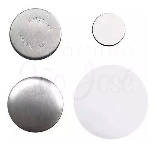 Button Imã De Geladeira 45mm (300 Buttons Desmontados)