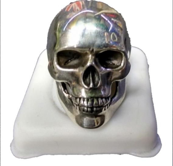 Anel Caveira Masculino Em Prata Maciça 925 - Crânio Liso