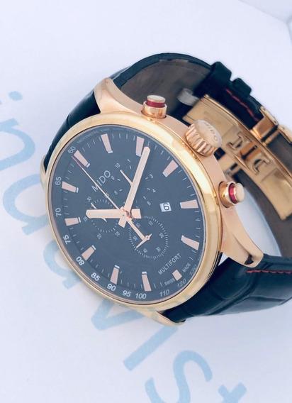 Reloj Mido Multifort Pavonado Dorado