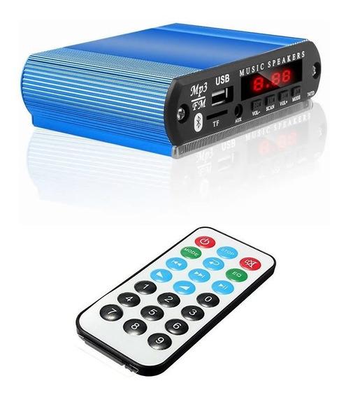 Decodificador 12v Mp3 Bluetooth 4.0 Fm Com Case De Alumínio
