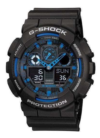 Relógio Casio G-shock Ga-100-1a2 Wr 200 Na Caixa Ga100