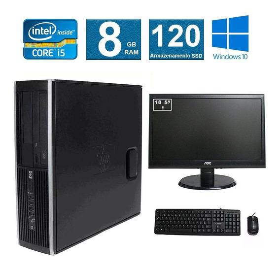 Computador Hp Elite 8100 I5 8gb 120ssd Monitor 18 Polegadas