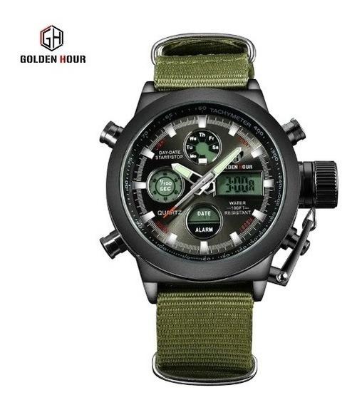 Relógio Tático Goldenhour Preto - Pronta Entrega