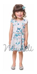 Vestido Menina Infantil Brandili Linha Mundi Luxo Tam 1 2 3