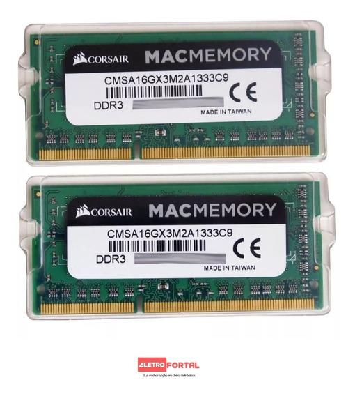 Kit 16gb 2x8gb 1333 Mhz Corsair Macbook iMac Mac Mini