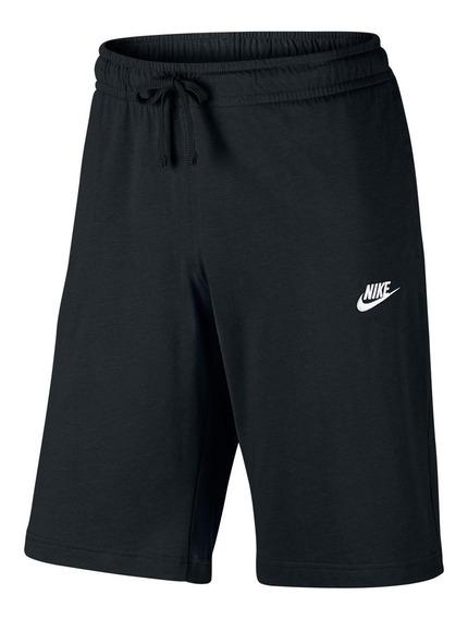 Bermuda Moletom Nike Jersey Club Reta Masculina Tamanho M