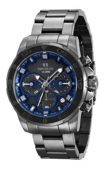Relógio Masculino Cinza Grafite Cronógrafo 13016gpsvsa2