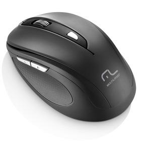 Mouse Multilaser Sem Fio 1600dpi Usb 6 Botões Preto Mo237