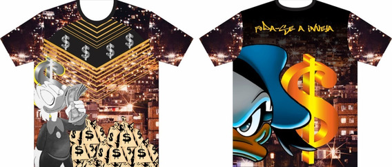 Camisa/camiseta Pato Donald Milionário - Tio Patinhas Grana
