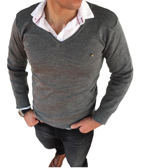 Suéter Cuello V De Hombre