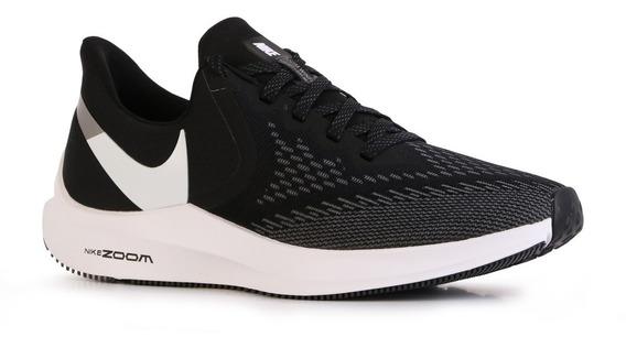 Zapatillas Nike Zoom Winflo 6 Running Hombre Oficial Negro
