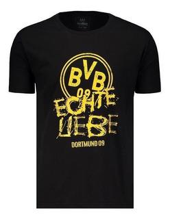 Camiseta Retrômania Borussia Dortmund Casual Preta