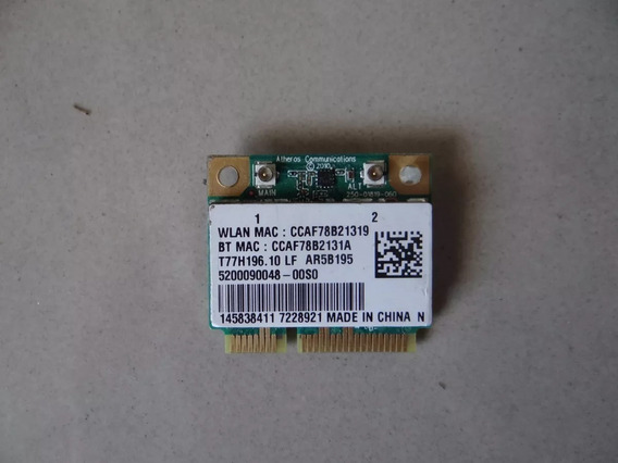 Placa Wireless Wi-fi Note Sony Vaio Vpcsc Pcg 41213x