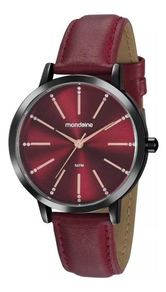 Relógio Mondaine Social Texturizado Vermelho