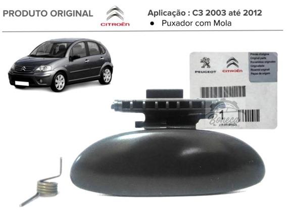 Puxador Maçaneta Porta Luvas Com Mola C3 2003 A 2012 Origina