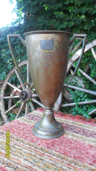 Antigua Copa Trofeo Foot Ball Club Las Rosas 1928 28 Cm