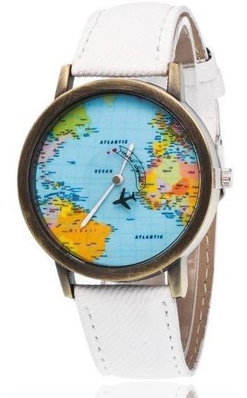 Promo Reloj Avion Segundero Mapa Del Mundo Aviacion Mayoreo