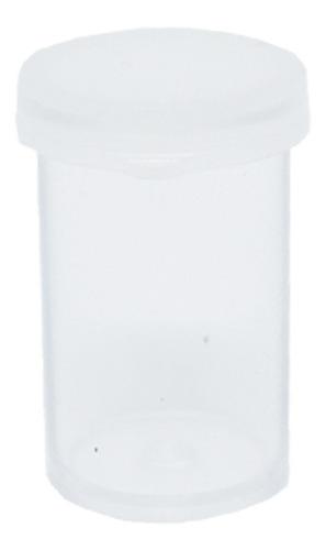 Kit 100 Potinhos Acrílico C/ Tampa Prótese Dentária - 7ml