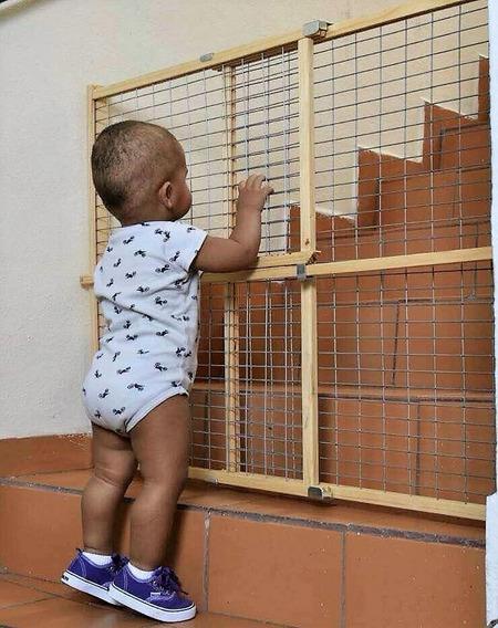 Rejas Cercas Seguridad Baranda Niños Bebe Mascotas Puerta