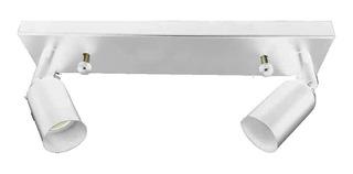 Aplique Lampara Mera 2 Luces Blanco Nanoshop Diseño En Cuota