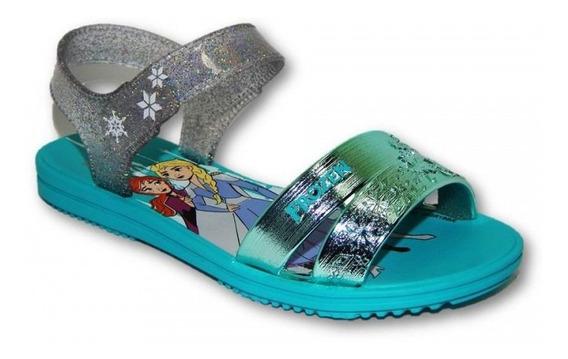 Sandália Frozen Snowflake 22114 Grendene Kids - Azul/verde