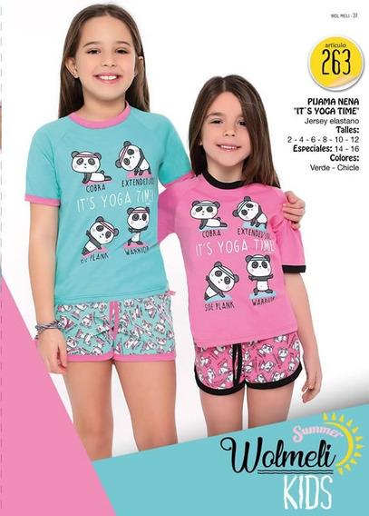 Pijama De Verano Nena Wolmeli 263 Del 2 Al 16. Yoga Panda