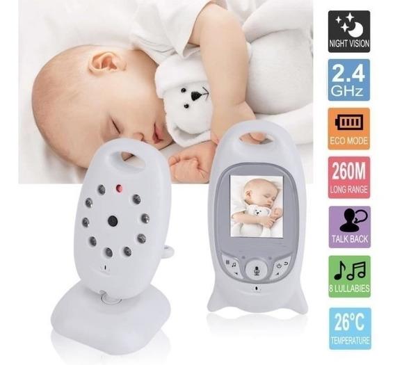 Baba Eletrônica Lcd Bebe Maternidade Visão Noturna Noite Dia
