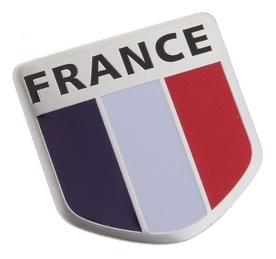 Emblema Bandeira Escudo França Linha Citroen Renault Peugeot