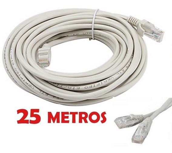 Cable Utp Cat5e 25 Metros Incluye Conectores Rj45 Redes Lan