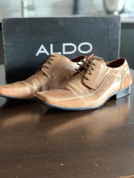 Zapatos Hombre Cuero Aldo Número 41 Dos Posturas
