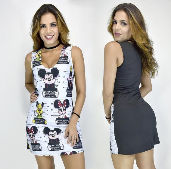 Vestido Curto Sexy Feminino Estampa Flamengo Pronta Entrega