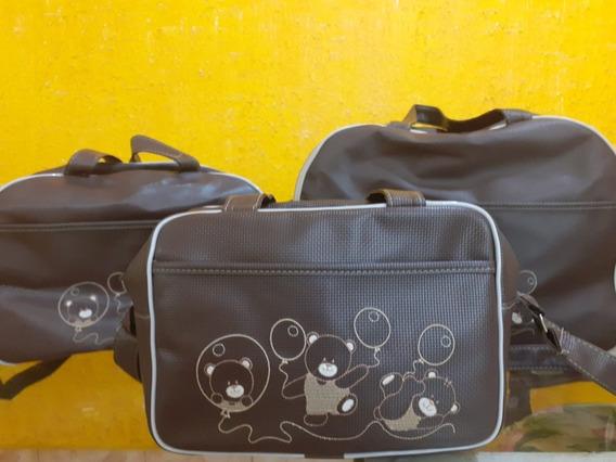 Kit 3 Bolsa Maternidade Usada Em Excelente Estado