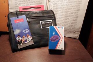 Funda iPad Tablet Mouse Optico Golla Bags Azul 9.5 Pulgadas