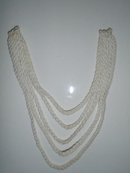 Gargantilha Branca De Crochê