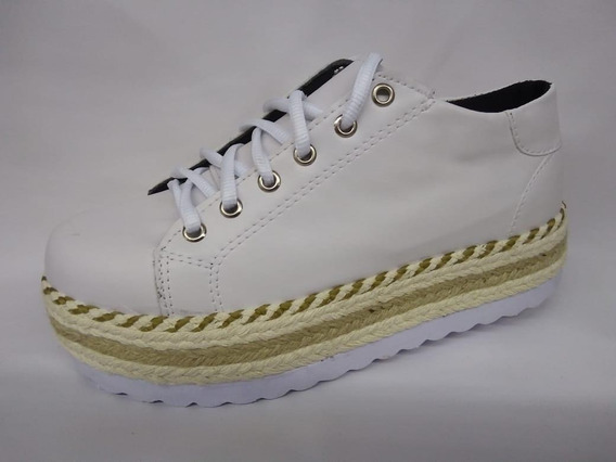 Tênis Casual Flat Yellow Napa Branco
