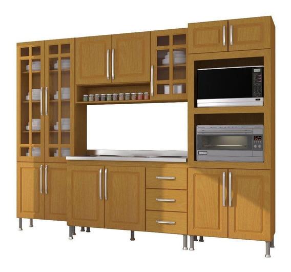 Cozinha Completa Indekes 13 Portas 3 Gavetas 4 Peças