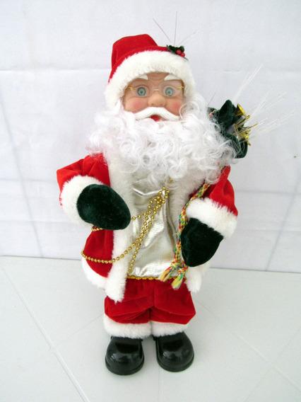 Papai Noel Cantor Musical Natal Decoração