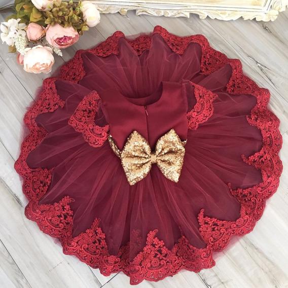 Vestido Infantil De Festa Princesa Luxo