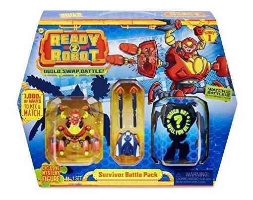 Ready 2 Robot Conjunto De Batalha Com Slime Vermelho Candide