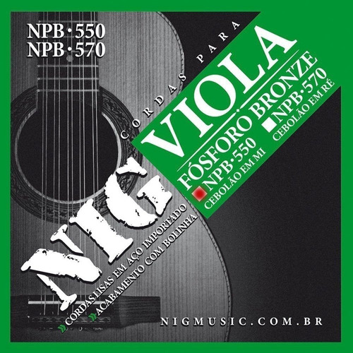 Encordoamento Nig Viola Cebolão Npb-550