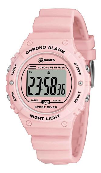 Relógio X Games Feminino Xfppd056 Bxrx Rosa - Refinado