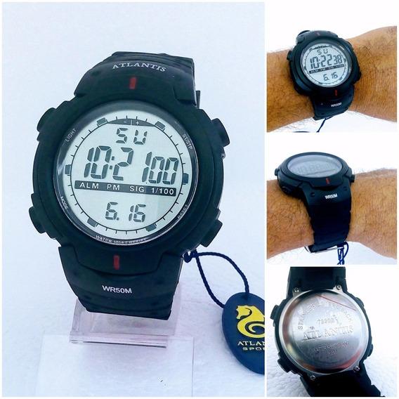Relógio Digital Masculino Atlantis 7330g Prova Dágua 12x S/j