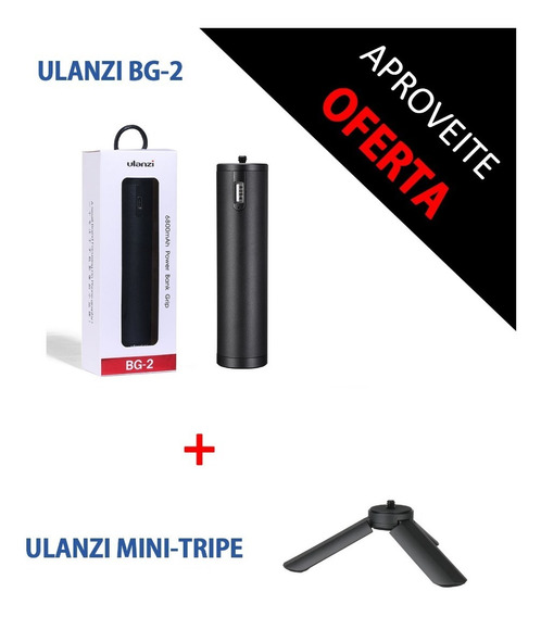 Ulanzi Bg-2 6800mah + Mini Tripe - Envio Imediato