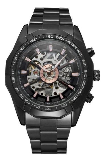 Relógio Masculino Forsining 188 Automático Preto Aço Inox