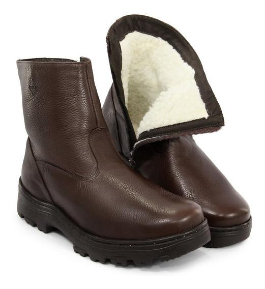 Bota Inverno E Frio Masculina Forrada Lã