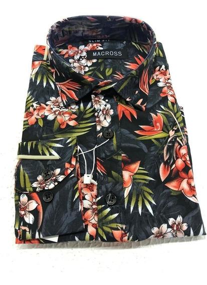 Camisa Social Floral Masculina Compre 4 Leve 1 Brinde